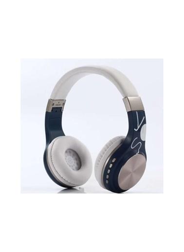 Bludfire Sy-Bt1607 Bluetooth Kulaküstü Kulaklık Kablosuz Sd Kart Girişi Aux Mavi-Beyaz Beyaz
